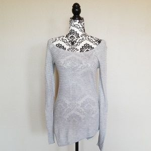 Knit Top With Asymmetrical Hem